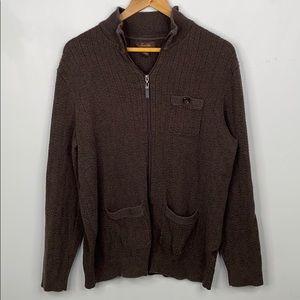 Tasso Elba zip up cardigan with pockets - small